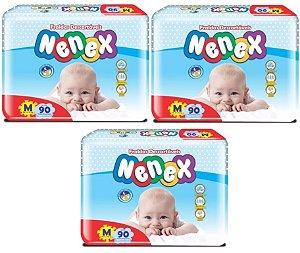 Fraldas Descartáveis-Infantil Nenex DIA/NOITE-M 270 unidades