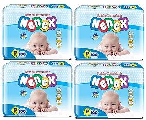 Fraldas Descartáveis-Infantil Nenex DIA/NOITE-P 400 unidades