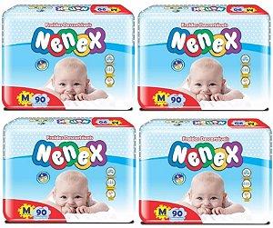 Fraldas Descartáveis-Infantil Nenex DIA/NOITE-M 360 unidades