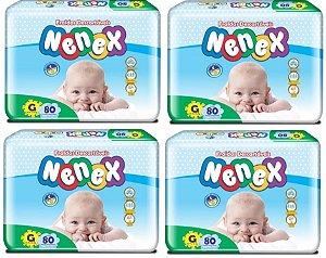 Fraldas Descartáveis-Infantil Nenex DIA/NOITE-G 320 unidades