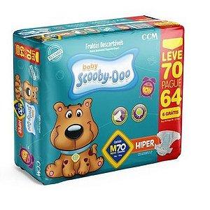 Fraldas Descartáveis Infantil Scooby-Doo-M-70 unidades