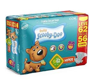 Fraldas Descartáveis Infantil Scooby-Doo-G- 62 unidades