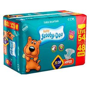 Fraldas Descartáveis Infantil Scooby-Doo XG 54 unidades