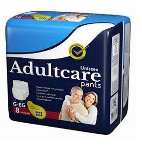 Roupa Íntima Unissex Adultcare Pants G/EG 8 Unidades