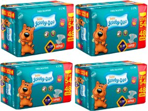 Fraldas Descartáveis Infantil Scooby-doo -Xg-216 Unidades