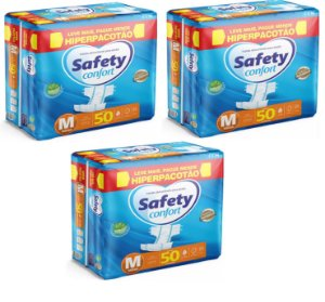 Fralda Geriatrica Safety Confort M-150 unidades
