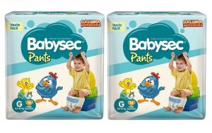 Fraldas Babysec Pants-Galinha Pintadinha-G 32 unidades