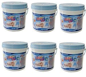 Lenços Umedecidos Use It Baby- 6 baldes Azul- 2400 Unidades