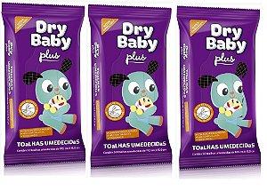 Toalhas Umedecidas Dry Baby Plus -150 unidades