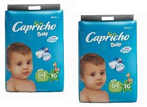 Fraldas Descartáveis-Capricho Baby-EG 128 unidades