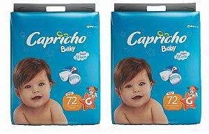Fraldas Descartáveis-Capricho Baby- G 144 Unidades