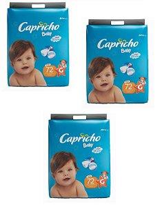 Fraldas Descartáveis-Capricho Baby- G 216 Unidades