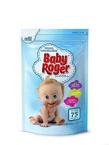 Lenço Umedecido Infantil Baby Roger - Refil para Embalagem Plástica - 75 unidades