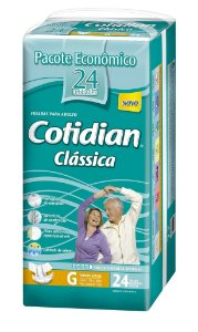 Fralda Geriatrica Cotidian Classica G 24 unidades