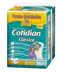 Fralda Geriatrica Cotidian Classica G  36 unid