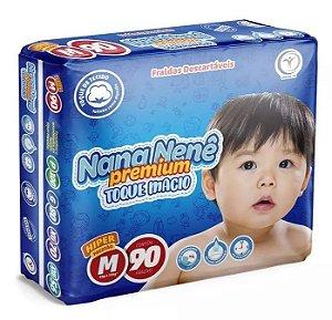 Fralda infantil Nana Nenê Premium Toque Macio M-90 unidades