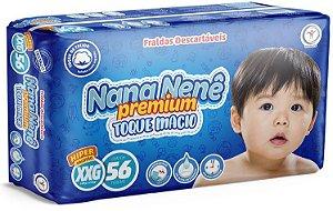 Fralda infantil Nana Nenê Premium Toque Macio XXG-56 unidades