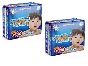 Fralda infantil Nana Nenê Premium Toque Macio M-180 unidades