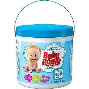 Lenços Umedecidos Baby Roger Balde com 450 unidades - Azul