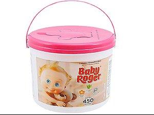 Lenços Umedecidos Baby Roger Balde com 450 unidades - Rosa