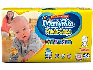 Fralda-Calça Infantil MamyPoko Dia & Noite NOVA - M com 38 unid.