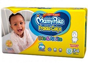 Fralda-Calça Infantil MamyPoko Dia & Noite NOVA - G com 34 unidades