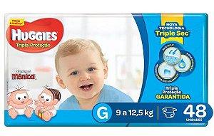 Fralda Infantil Huggies Turma da Mônica Tripla Proteção - G 48 unidades