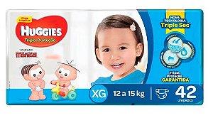 Fralda Infantil Huggies Turma da Mônica Tripla Proteção  XG  42 unid