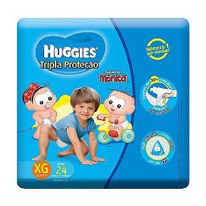 Fralda Huggies Turma da Mônica Tripla Proteção XG Pacote Jumbo 24 unidades