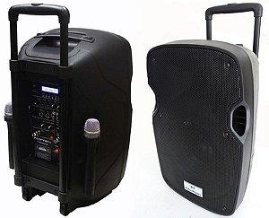 Caixa Som 1200w Bluetooth Amplificada Ativa Sub 12pol USB Fm