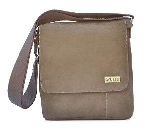 Bolsa de couro pequena lateral- LW 2210 - nobuck café