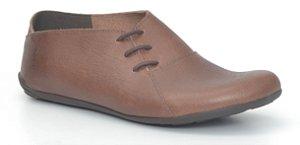 Sapato Feminino em couro Wuell Casual Shoes - Miscanti 064621 - rústico chocolate