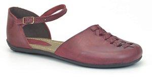 Sapato Feminino em couro Wuell Casual Shoes - Miscanti 031620 - carmim