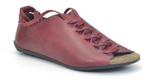 Sandália Feminina em couro Wuell Casual Shoes - Miscanti 106210 - carmim