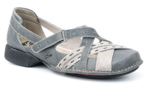 Sapato feminino em couro Wuell Casual Shoes - Lincancabur - AD 0900 - stone glace