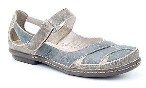 Sapato feminino em couro Wuell Casual Shoes - Lincancabur - MA 9600 - stone café