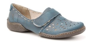 Sapato feminino em couro Wuell Casual Shoes - Lincancabur - LC 2000 - safira