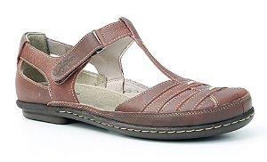 Sapato feminino em couro Wuell Casual Shoes - Tiradentes - MA 8101- vermelho
