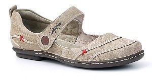 Sapato feminino em couro Wuell Casual Shoes - Tiradentes - MA 9701 - avelã