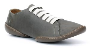 Sapato feminino em couro Wuell Casual Shoes - Catas Altas - NMB 70110 - musgo