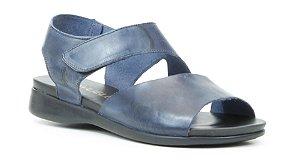 Sandália feminina em couro Wuell Casual Shoes - Ouro Preto - VC 02080 - petróleo