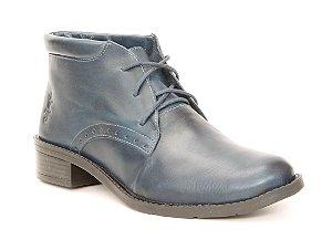 Bota Feminina em Couro Wuell Casual Shoes - Valle de la Luna - BZ 4850 - marinho