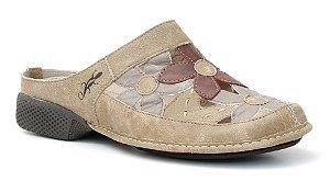 Babuch Feminina em couro Wuell Casual Shoes - Tiradentes - DA 1600- avelã
