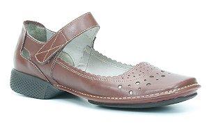 Sapato Feminino em couro Wuell Casual Shoes - Tiradentes - YC 0300 - vermelho
