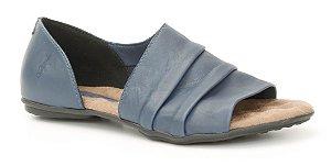 Sandália feminina em couro Wuell Casual Shoes - Lavras Novas  - VN 264232 - marinho