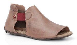 Sandália Feminina em couro Wuell Casual Shoes - Lavras Novas  - VN 103210 - chocolate