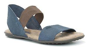 Sandália Rasteira Feminina em couro Wuell Casual Shoes - Lavras Novas  - VN 212232 - marinho