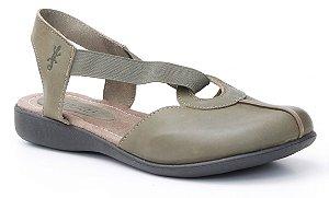 Sandália Feminina em couro Wuell Casual Shoes - Lavras Novas  - VN 001640 - folha