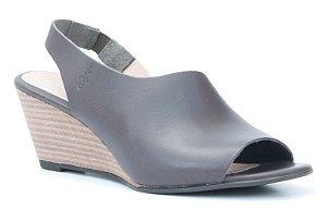 Sandália Feminina Salto Anabela em couro Wuell Casual Shoes - Lavras Novas  - VN 150400 - café