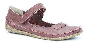 Sapato Feminino em couro Wuell Casual Shoes - Diamantina - ZM 2975 - bordô